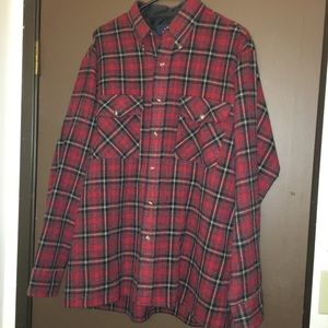 Men's Large Ivy Crew Red Flannel